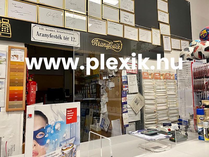 Leheletvédő plexifal