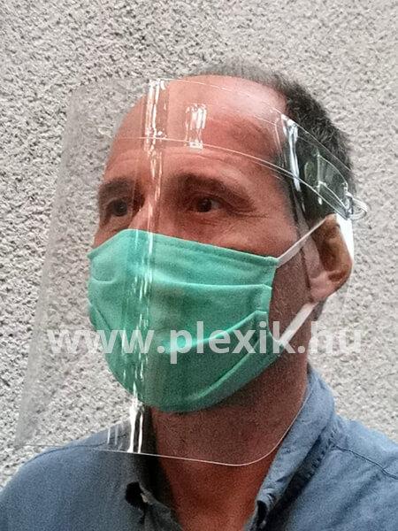 Plexi védőpajzs arcra